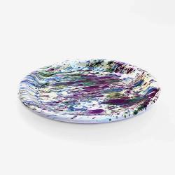 Assiette Plate Ronde - Décor Jaspé